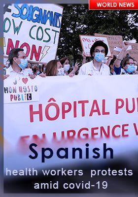 SPANISH HEALTH WORKERS PROTEST