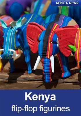 KENYA FLIP FLOPS FIGURINES