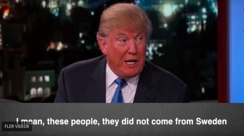 Så svarar Trump på frågor