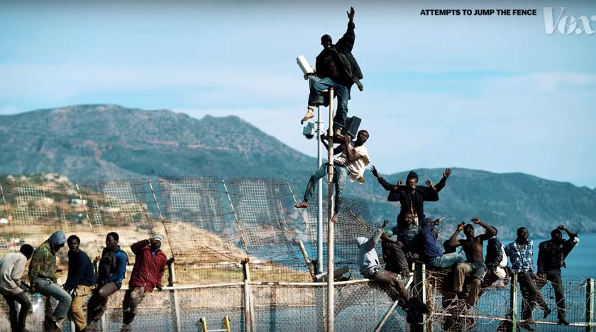 Europas hårdast bevakade gräns finns i Afrika