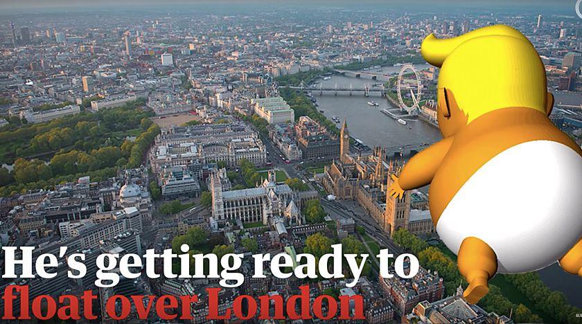 Trump gör sig redo att flyga över London