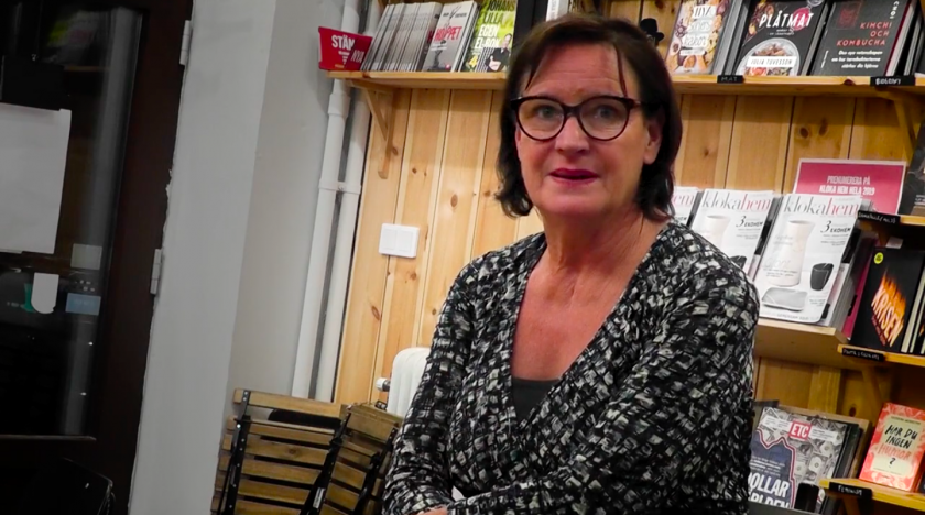 Annelie Nordström på ETC Bokcafé