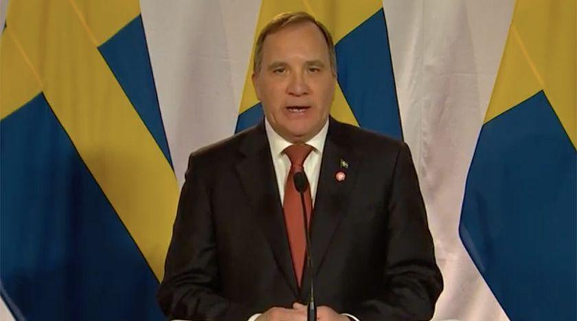 Statsministern höll tal