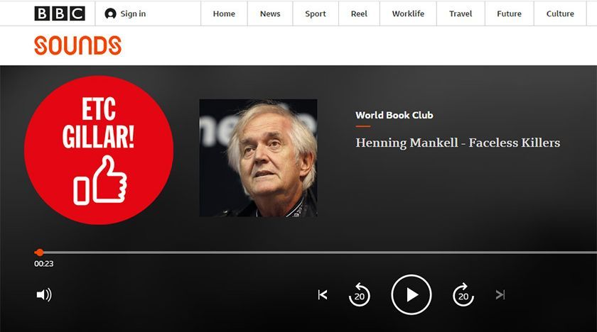 En gammal intervju med Henning Mankell om Mördare utan ansikte