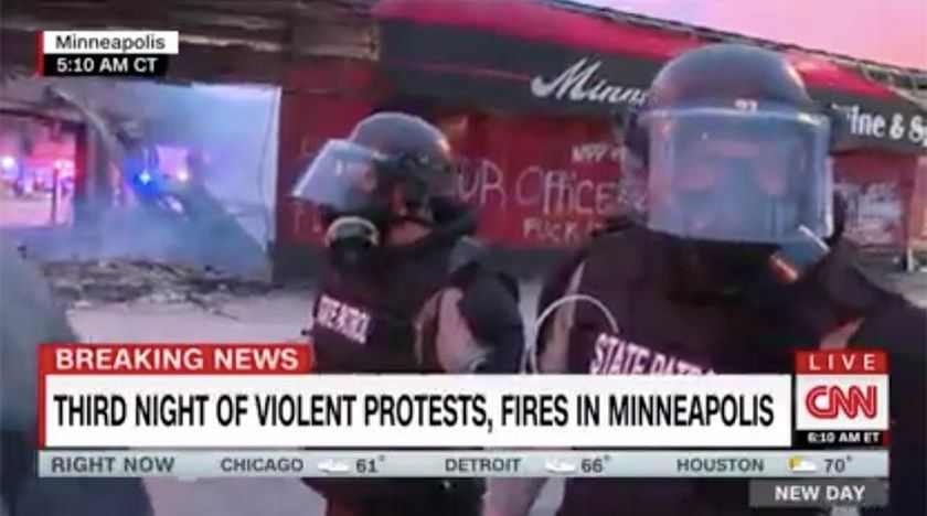 CNN-team grips i direktsändning