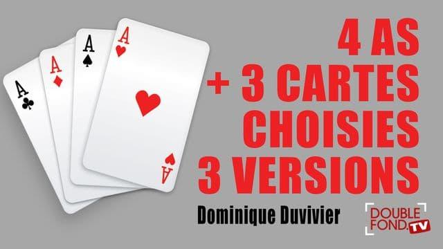 4 as + 3 cartes choisies 3 versions