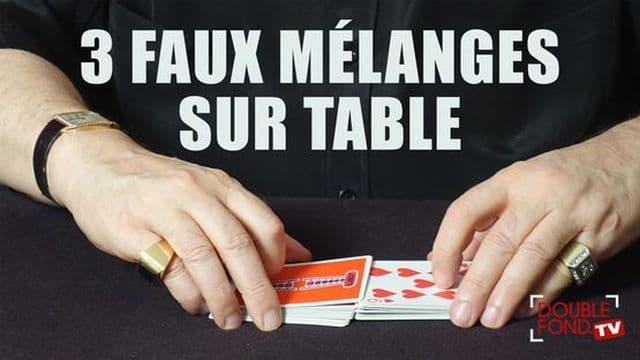 3 faux mélanges sur table