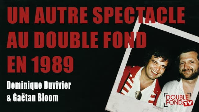 Un autre spectacle au Double Fond en 1989