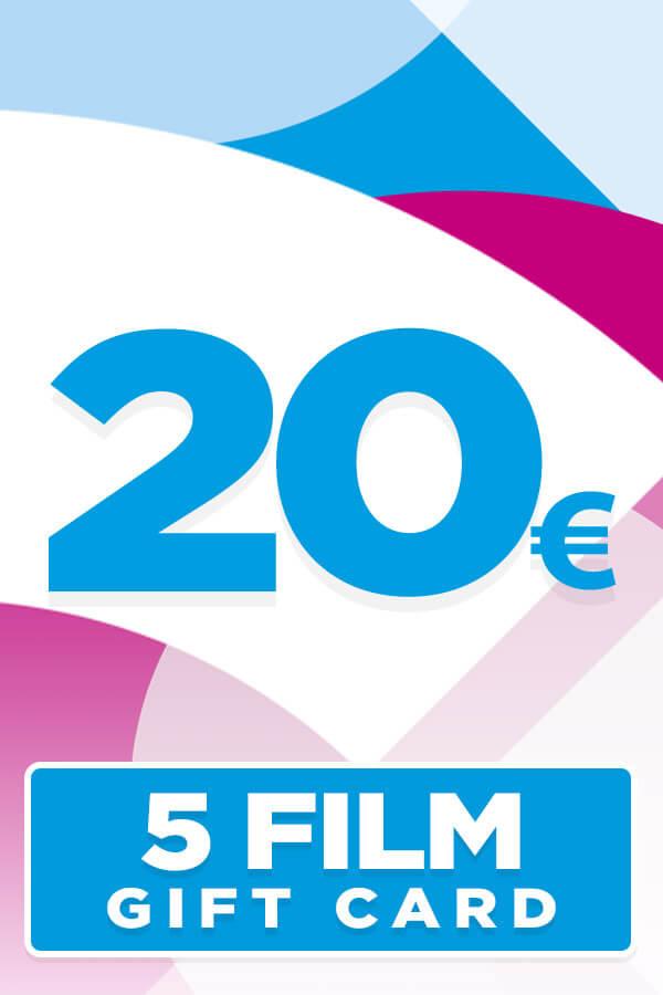 Gift Card da 20 Euro per 5 Film