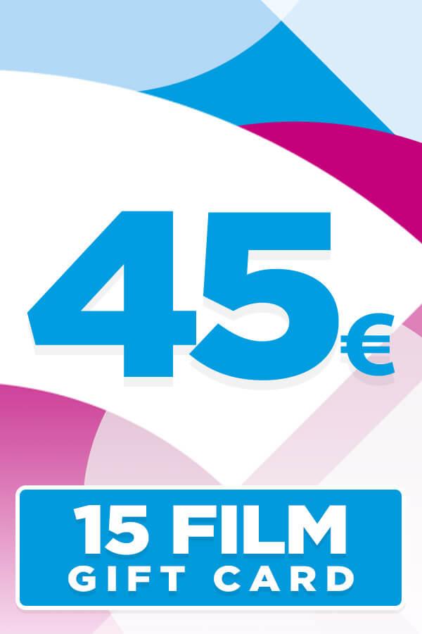 Gift Card da 45 Euro per 15 Film